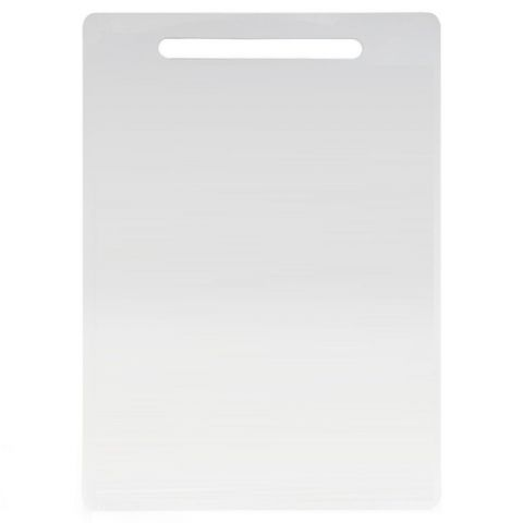 Thick 29cm White Dishwasher Safe Plastic Chopping Cutting Board